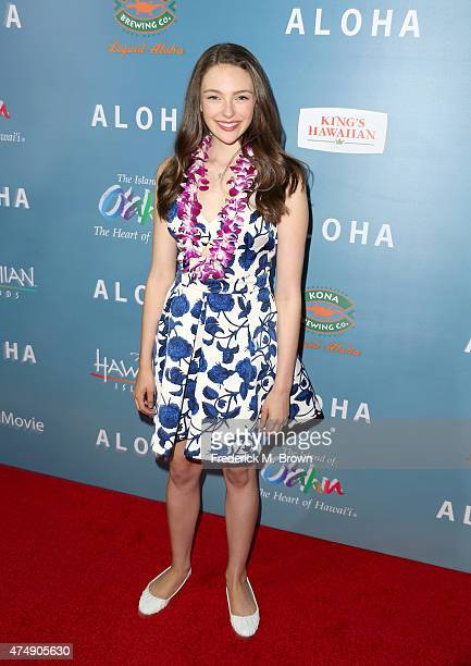 Actress Danielle Rose Russell attends the special screening of Columbia Pictures' ALOHA at The London West Hollywood on May 27 2015 in West Hollywood...