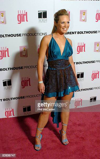 Actress Danielle Savre arrives at the First Annual ELLEGIRL Hollywood Prom party held at the Hollywood Athletic Club on April 14 2005 in Hollywood...