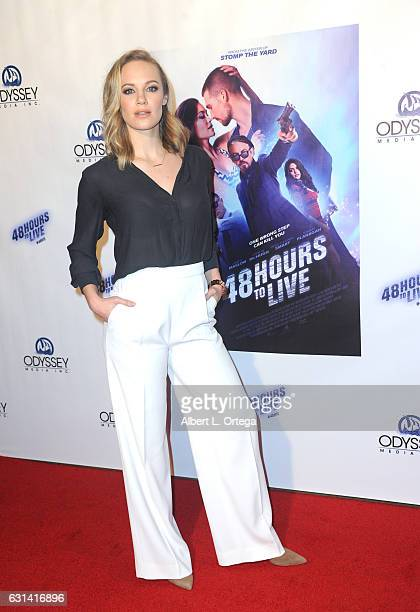 Actress Danielle Savre arrives for the Premiere Of Gravitas Pictures' '48 Hours To Live' held at TCL Chinese 6 Theatres on January 9 2017 in...