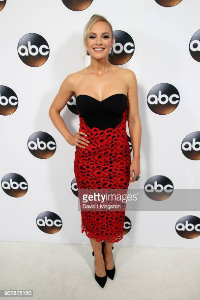 Actress Danielle Savre attends Disney ABC Television Group's TCA Winter Press Tour 2018 at The Langham Huntington Pasadena on January 8 2018 in...