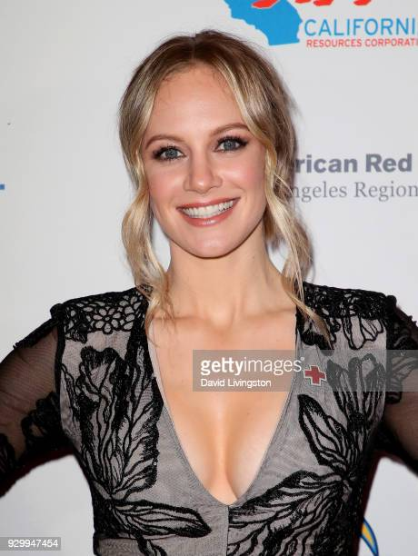 Actress Danielle Savre attends the American Red Cross Annual Humanitarian Celebration to honor the Los Angeles Chargers at Skirball Cultural Center...