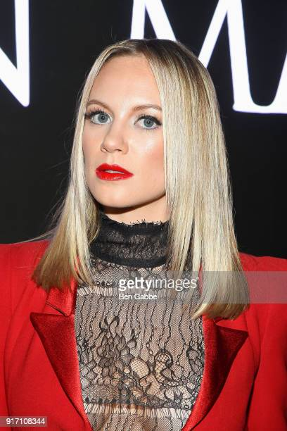 Actress Danielle Savre attends the Carmen Marc Valvo fashion show during New York Fashion Week on February 11 2018 in New York City