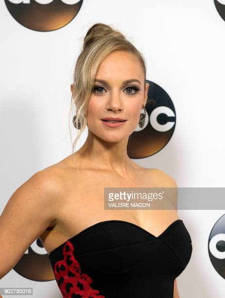 Actress Danielle Savre attends the Disney ABC Television TCA Winter Press Tour on January 8 in Pasadena California / AFP PHOTO / VALERIE MACON