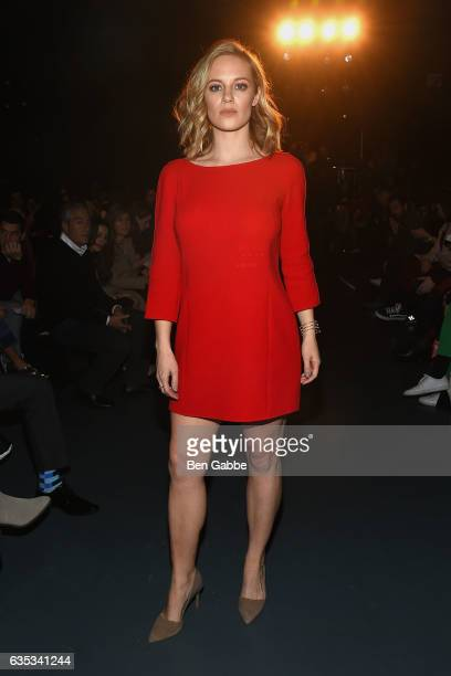 Actress Danielle Savre attends the Miguel Vieira fashion show during New York Fashion Week at Pier 59 Studios on February 14 2017 in New York City
