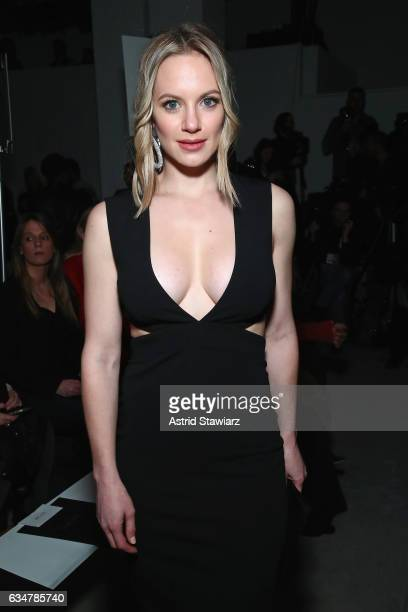 Actress Danielle Savre attends the Nicole Miller collection Front Row during New York Fashion Week The Shows at Gallery 2 Skylight Clarkson Sq on...