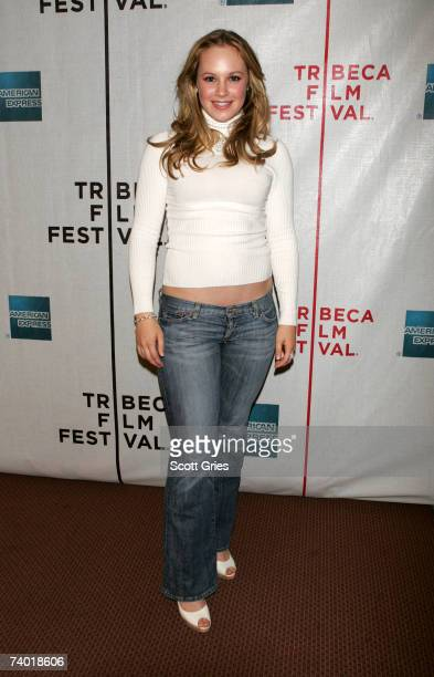 Actress Danielle Savre attends the premiere of 'The Final Season' at the 2007 Tribeca Film Festival on April 28 2007 in New York City