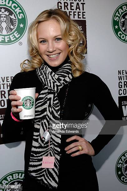 Actress Danielle Savre attends the Starbucks VIA Ready Brew Lounge at The Silver Spoon Oscar House February 19 2009 in Hollywood California