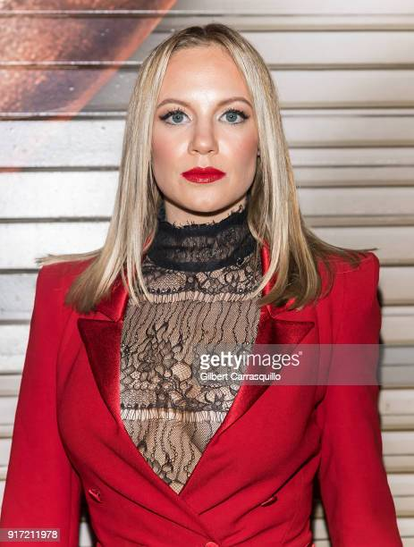 Actress Danielle Savre is seen arriving to the Carmen Marc Valvo fashion show during New York Fashion Week on February 11 2018 in New York City