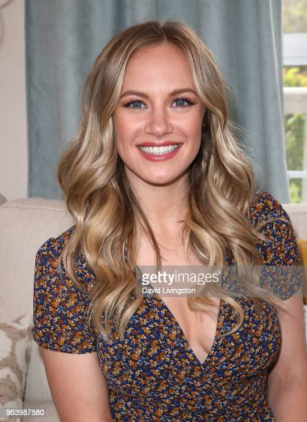 Actress Danielle Savre visits Hallmark's Home Family at Universal Studios Hollywood on May 2 2018 in Universal City California