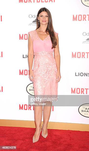 Actress Danielle Vasinova arrives at The Los Angeles Premiere Of 'Mortdecai' at TCL Chinese Theatre on January 21 2015 in Hollywood California