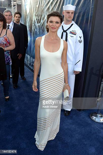 Actress Danielle Vasinova arrives at the premiere of Universal Pictures' Battleship at Nokia Theatre LA Live on May 10 2012 in Los Angeles California