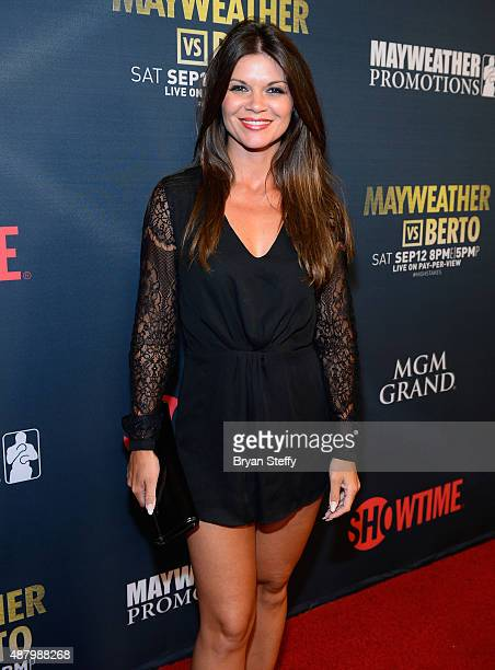 Actress Danielle Vasinova arrives at the VIP PreFight Party for 'High Stakes Mayweather v Berto' presented by Showtime at MGM Grand Garden Arena on...