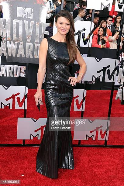 Actress Danielle Vasinova attends the 2014 MTV Movie Awards at Nokia Theatre LA Live on April 13 2014 in Los Angeles California