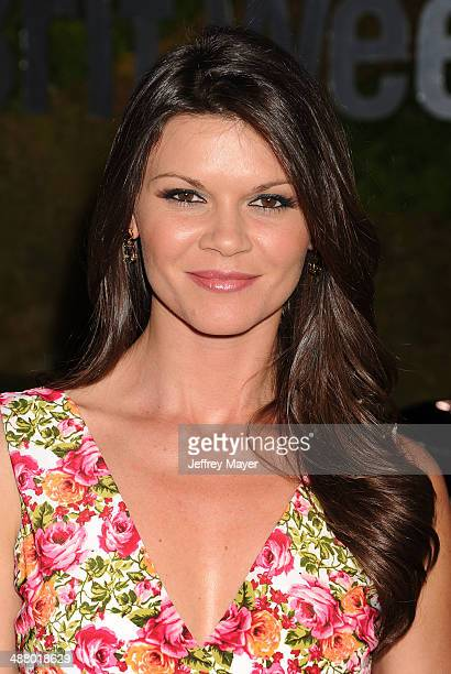 Actress Danielle Vasinova attends the Jaguar North America and BritWeek present a Villainous Affair held at The London on May 2 2014 in West...
