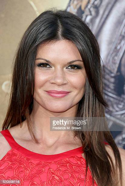 Actress Danielle Vasinova attends the premiere of Universal Pictures' 'The Huntsman Winter's War' at the Regency Village Theatre on April 11 2016 in...