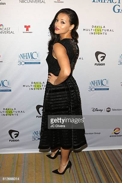Actress Danielle Vega attends the 19th Annual National Hispanic Media Coalition Impact Awards Gala at Regent Beverly Wilshire Hotel on February 26...