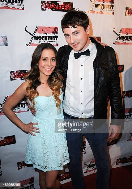 Actress Danika Galindo and diectorJared Masters attend the ShockFest Film Festival Awards held at Raleigh Studios on January 11 2014 in Los Angeles...