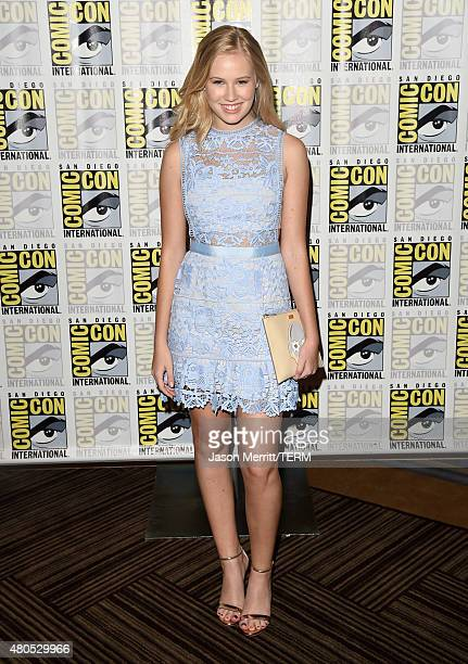 Actress Danika Yarosh attends Heroes Reborn Press Room during ComicCon International 2015 at Hilton Bayfront on July 12 2015 in San Diego California