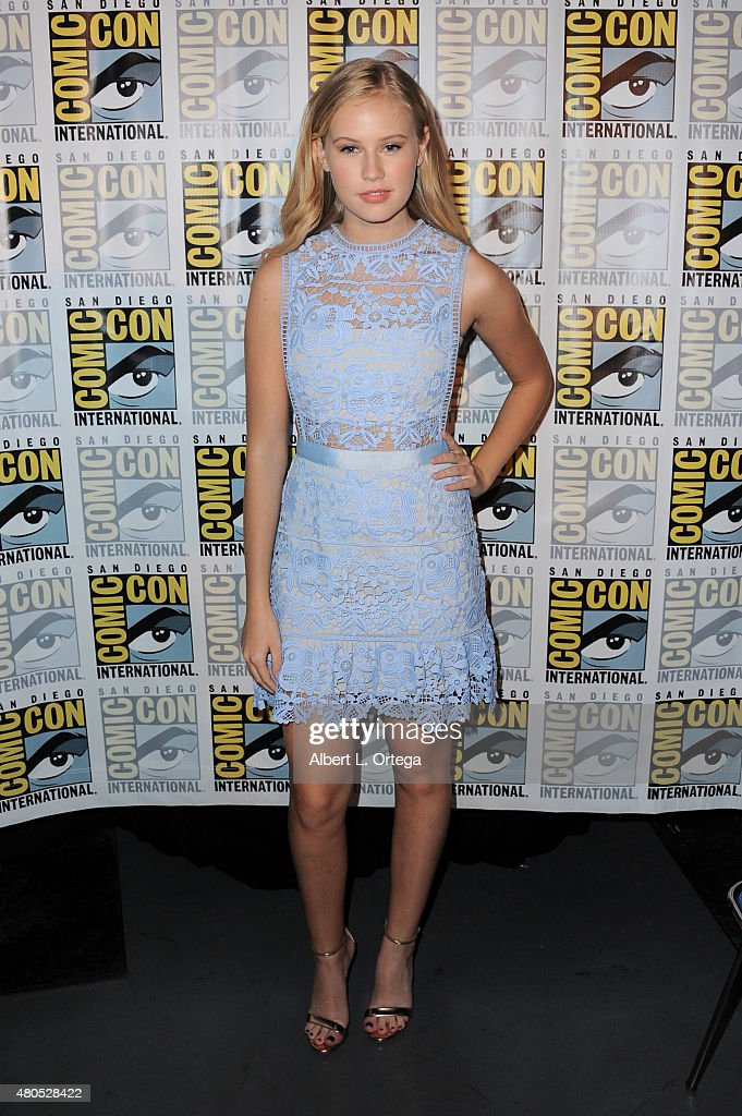 Actress Danika Yarosh poses at the 'Heroes Reborn' exclusive extended trailer and panel during Comic-Con International 2015 at the San Diego Convention Center on July 12, 2015 in San Diego, California.