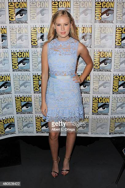Actress Danika Yarosh poses at the Heroes Reborn exclusive extended trailer and panel during ComicCon International 2015 at the San Diego Convention...