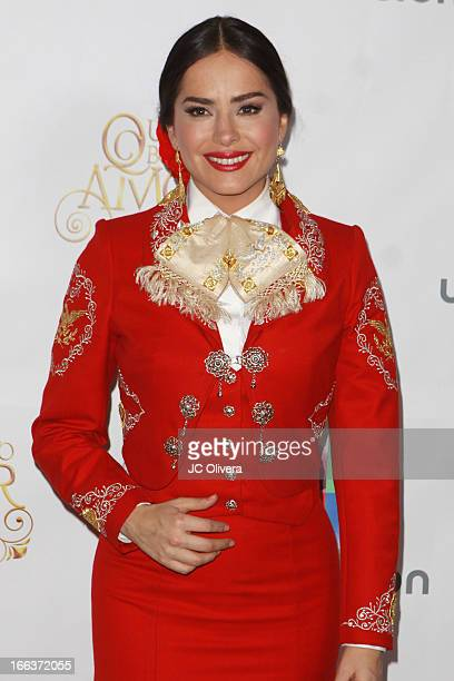 Actress Danna Garcia attends Univision Network's New Novela Que Bonito Amor Press Conference and fan meet and greet at Plaza Mexico on April 11 2013...