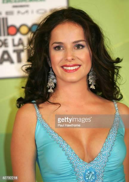 Actress Danna Garcia poses backstage at 2005 Billboard Latin Music Awards at the Miami Arena on April 28 2005 in Miami Florida