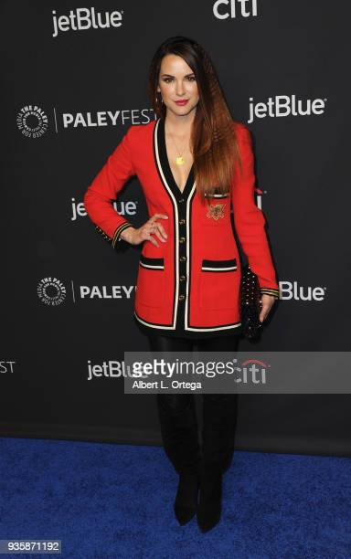 Actress Danneel Ackles attends The Paley Center For Media's 35th Annual PaleyFest Los Angeles Supernatural held at Dolby Theatre on March 20 2018 in...