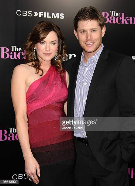 """Actress Danneel Harris and Jensen Ackles attend the premiere of """"The Back-Up Plan"""" at Regency Village Theatre on April 21, 2010 in Westwood,..."""