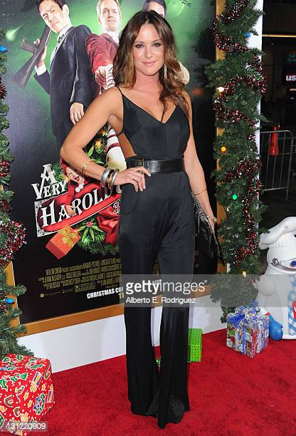 Actress Danneel Harris arrives to the premiere of New Line Cinema's A Very Harold Kumar 3D Christmas at Grauman's Chinese Theatre on November 2 2011...