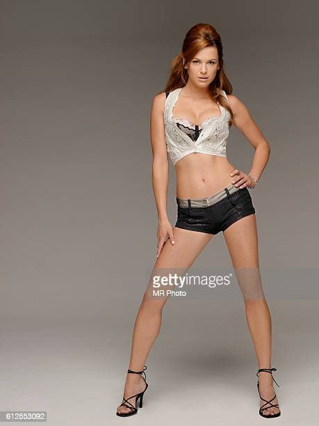 Actress Danneel Harris is photographed for Maxim Magazine on August 28 2006 in Los Angeles California