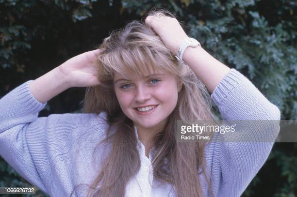 Actress Danniella Westbrook pictured on the set of the BBC soap opera 'EastEnders' December 18th 1985