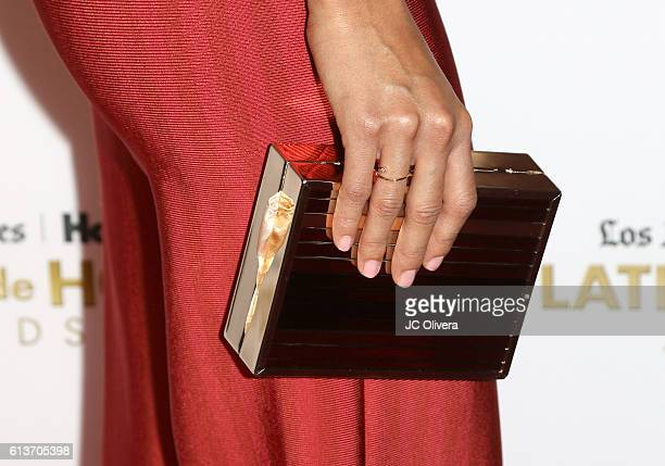 Actress Danube Hermosillo fashion detail attends the 2016 Latinos de Hoy Awards at Dolby Theatre on October 9 2016 in Hollywood California