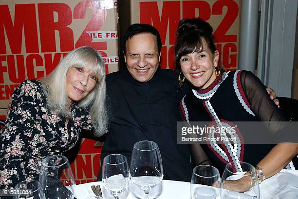 Actress Dany Saval Stylist Azzedine Alaia and Artist Tatiana Trouve attend the Dinner at Galerie Azzedine Alaia with a performance of the...