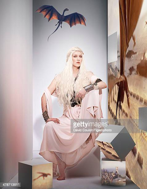 108875005 Actress Daphne Burki is photographed for Madame Figaro as Daenerys Targaryen from Game of Thrones on January 17 2014 in Paris France Dress...