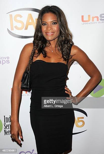 Actress Daphne RubinVega attends 5th Annual Indie Series Awards held at El Portal Theatre on April 2 2014 in North Hollywood California