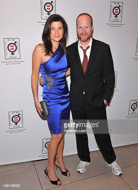Actress Daphne Zuniga and director Joss Whedon attend the Equality Now 20th Anniversary Fundraiser Event at Asia Society on April 19 2012 in New York...