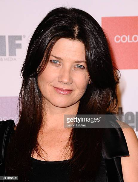 Actress Daphne Zuniga attends Entertainment Weekly And Women In Film's 7th annual preEmmy party at Restaurant at The Sunset Marquis Hotel on...