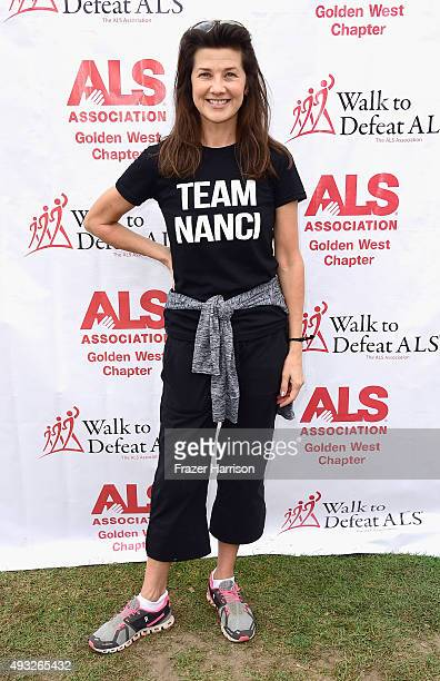 Actress Daphne Zuniga attends the Nanci Ryder's Team Nanci At The 13th Annual LA County Walk To Defeat ALS at Exposition Park on October 18 2015 in...