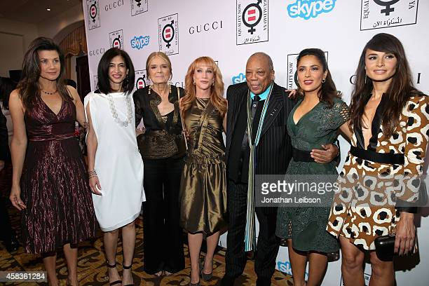 Actress Daphne Zuniga Global Director of Equality Now Yasmeen Hassan honoree Gloria Steinem host Kathy Griffin record producer Quincy Jones honoree...