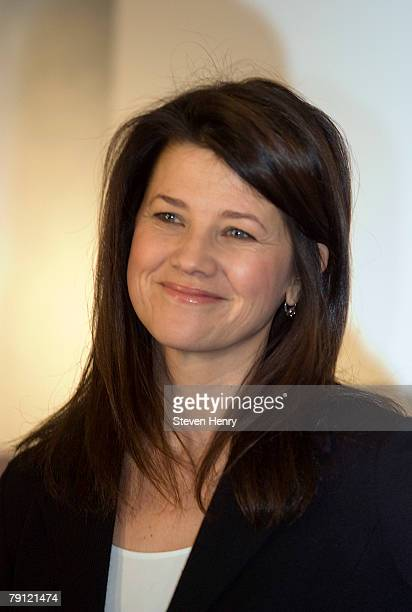 Actress Daphne Zuniga poses on stage at Macy's Herald Square on January 19 2008 in New York City