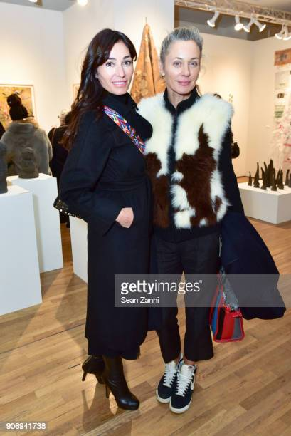 Actress Dara Tomanovich and Charlotte Bonstrom attend Outsider Art Fair New York 2018 VIP Early Access Preview at Metropolitan Pavilion on January 18...