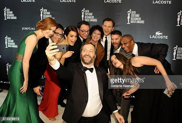 Actress Darby Stanchfield actor/writer Dan Bucatinsky actress Bellamy Young host Joshua Malina director Judd Apatow costume designer Lyn Paolo actor...