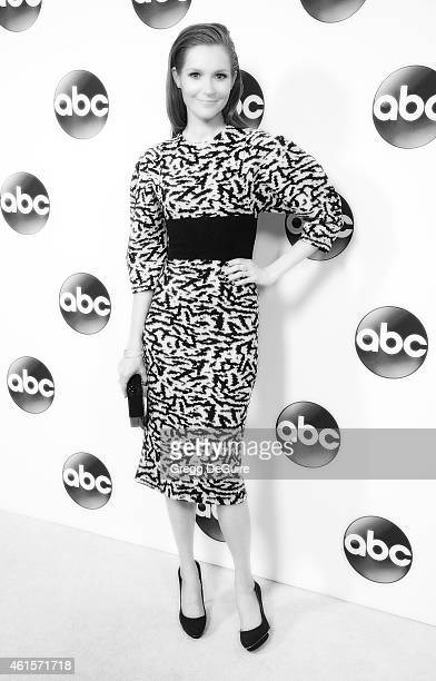 Actress Darby Stanchfield arrives at Disney ABC Television Group's TCA Winter Press Tour on January 14 2015 in Pasadena California