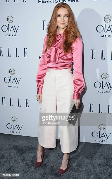 Actress Darby Stanchfield arrives at ELLE's 6th Annual Women In Television Dinner at Sunset Tower Hotel on January 20 2016 in West Hollywood...