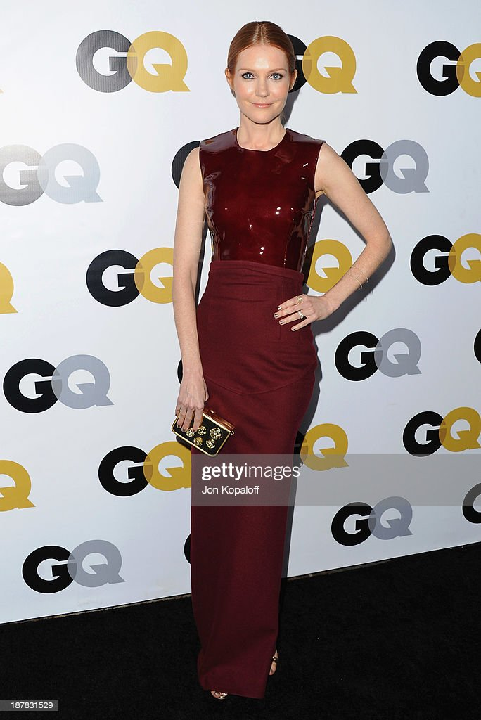 Actress Darby Stanchfield arrives at GQ Celebrates The 2013 'Men Of The Year' at The Wilshire Ebell Theatre on November 12, 2013 in Los Angeles, California.