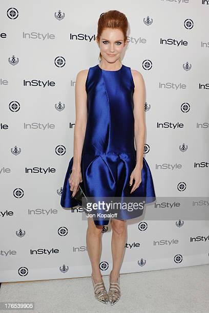 Actress Darby Stanchfield arrives at the 13th Annual InStyle Summer Soiree at Mondrian Los Angeles on August 14 2013 in West Hollywood California