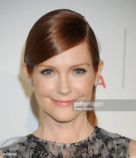 Actress Darby Stanchfield arrives at the 2014 Environmental Media Awards at Warner Bros Studios on October 18 2014 in Burbank California