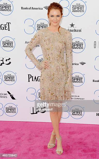 Actress Darby Stanchfield arrives at the 2015 Film Independent Spirit Awards on February 21 2015 in Santa Monica California