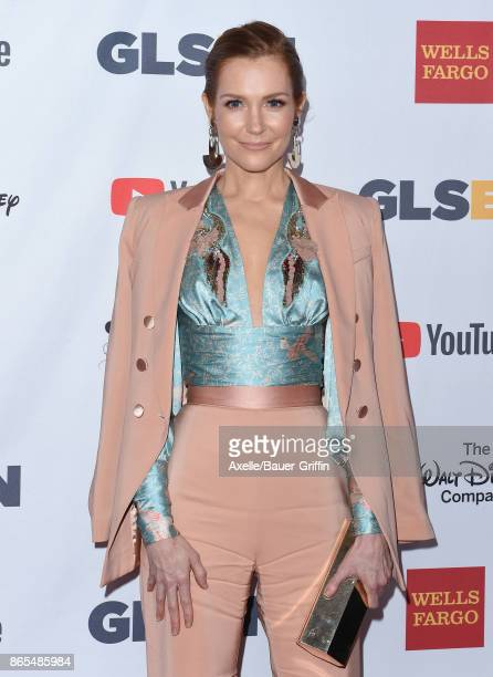 Actress Darby Stanchfield arrives at the 2017 GLSEN Respect Awards at the Beverly Wilshire Four Seasons Hotel on October 20 2017 in Beverly Hills...