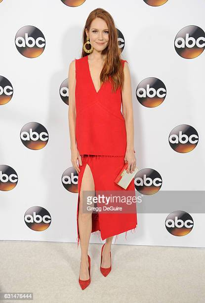 Actress Darby Stanchfield arrives at the 2017 Winter TCA Tour Disney/ABC at the Langham Hotel on January 10 2017 in Pasadena California